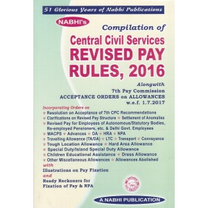 Nabhi's Compilation of Central Civil Services Revised Pay Rules, 2016