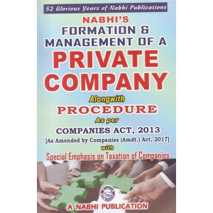 Nabhi's Formation & Management of a Private Company alongwith Procedure as per Companies Act, 2013