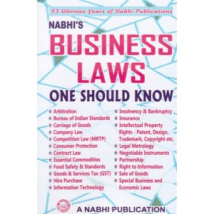 Nabhi's Business Laws - One Should Know
