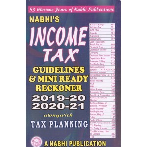 Nabhi's Income Tax Guidelines & Mini Ready Reckoner 2019-20 & 2020-21 Alongwith Tax Planning
