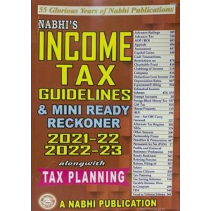 Nabhi's Income Tax Guidelines & Mini Ready Reckoner 2021-22 & 2022-23 Alongwith Tax Planning