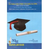 Adv. U. P. Deopujari's The Maharashtra Public Universities Act, 2016 by Nagpur Law House