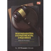 Adv. U. P. Deopujari's Maharashtra Departmental Enquiries (Rules & Procedure) by Nagpur Law House