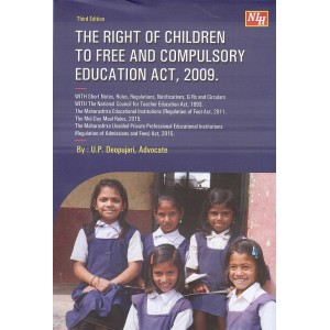 Adv. U. P.  Deopujari's Right of Children to Free and Compulsory Educations Act, 2009 (RCFCEA-HB) by Nagpur Law House | RTE Act 2009