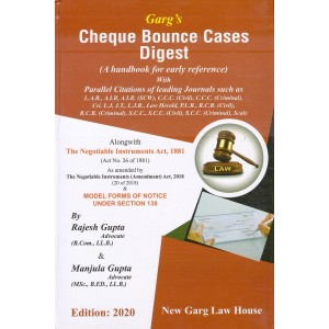 New Garg Law House's Cheque Bounce Cases Digest [HB] by Rajesh Gupta, Manjula Gupta