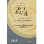 Orient Publishing Company's Law Relating to Juvenile Justice in India by R. N. Choudhry, S.K.A. Naqvi