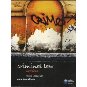 Oxford University Press (OUP's) Criminal Law Directions Nicola Monaghan