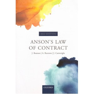 Oxford Anson's Law of Contract 30th Edition by J. Beatson, A. Burrows, J. Cartwright