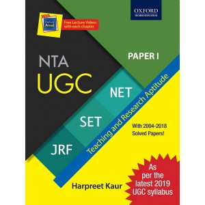 Oxford's NTA UGC NET/SET/JRF Paper 1 : Teaching and Research Aptitude by Harpreet Kaur