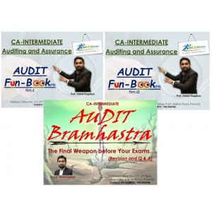 Prof. Vishal Dagdiya's Auditing & Assurance [Fun-book Part I & II + Bramhastra] Combo for CA Inter May 2019 Exam by Pathfinder Professional Academy