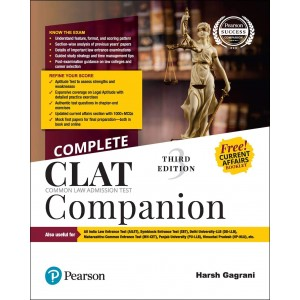 Pearson's Complete CLAT Companion 2020 by Harsh Gagrani | Common Law Admission Test
