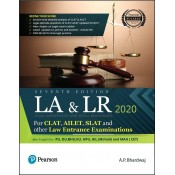 Pearson's Legal Awareness & Legal Reasoning For CLAT, AILET, SLAT & Other Law Entrance Examinations 2020 by A. P. Bhardwaj | LA & LR 2020