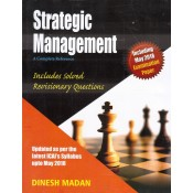 Dinesh Madan's Strategic Management A Complete Reference (SM) for CA Inter (IPCC) November 2018 Exam by Aldine CA