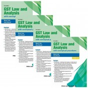 Pooja Law Publication's GST Law And Analysis With Conceptual Procedures (Set of 4 Volumes) By Bimal Jain and Isha Bansal