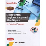 Sangeet Kedia's Secretarial Audit, Compliance Management & Due Diligence for CS Professional June 2020 Exam [Old Syllabus] by Anuj Sharma | Pooja Law Publishing Co.
