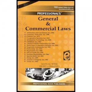 Professional's General & Commercial Laws Manual with Short Comments