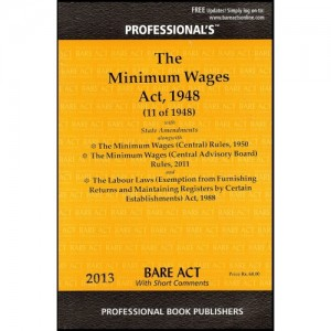 Professional's Minimum Wages Act, 1948 Bare Act