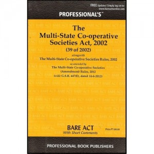 Professional's  Multi- State Co-operative Societies Act, 2002 Bare Act