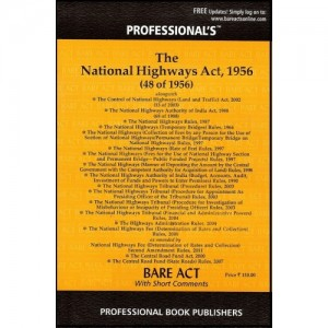 Professional's Bare Act on National Highway Act,1956