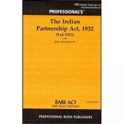 Professional's Indian Partnership Act, 1932 Bare Act