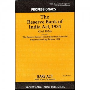 Professional's Bare Act on Reserve Bank Of India Act, 1934