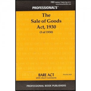 Professional's Sales Of Goods Act, 1930 Bare Act