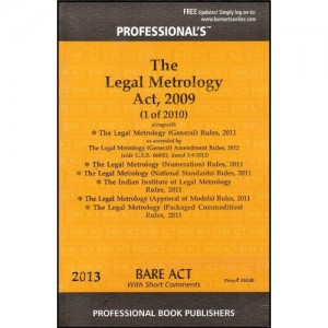 Professional's Legal Metrology Act, 2009 Bare Act