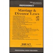 Professional's Marriage & Divorce Laws [Family Law I & II -Bare Acts]