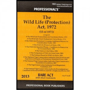 Professional's The Wild Life (Protection) Act, 1972 - Bare Act