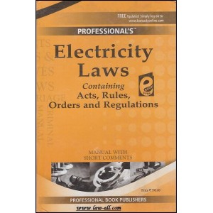 Professional's Electricity Laws  Manual with Short Comments (HB)