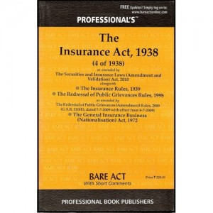 Professional's Bare Act on Insurance Act, 1938