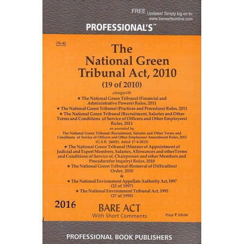 Professional's Bare Act on National Green Tribunal Act, 2010 | NGT 2010 Bare Act
