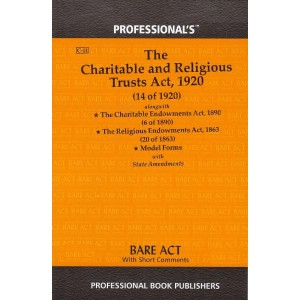 Professional's The Charitable and Religious Trusts Act, 1920 Bare Act
