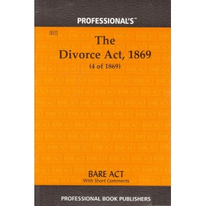 Professional's Divorce Act, 1869 Bare Act