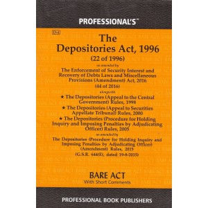 Professional's Depositories Act, 1996 Bare Act