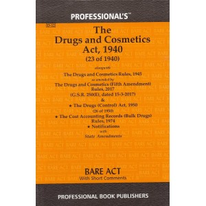 Professional's Drugs & Cosmetics Act, 1940 Bare Act