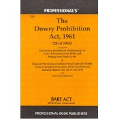 Professional's Dowry Prohibition Act, 1961 Bare Act