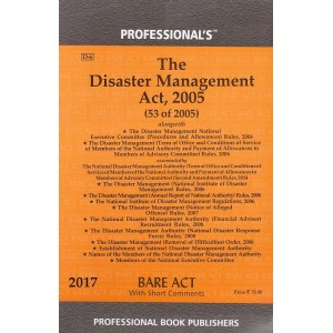 Professional's Disaster Management Act, 2005 Bare Act