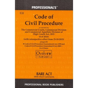 Professional's Code of Civil Procedure, 1908 [CPC] Bare Act