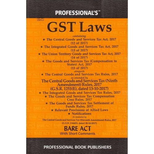 Professional's GST Laws 2019 (Goods & Services Tax) Bare Act