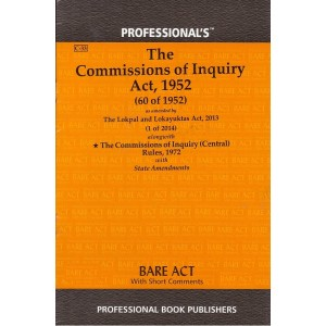 Professional's The Commissions of Inquiry Act, 1952 Bare Act