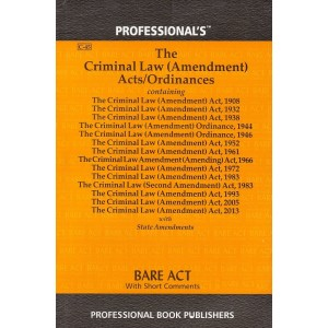 Professional's The Criminal Law (Amendment) Acts / Ordinances Bare Act