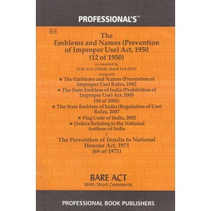 Professional's Bare Act on Emblems and Names (Prevention of Improper Use) Act, 1950