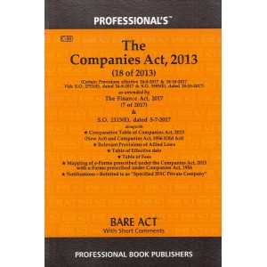 Companies Act, 2013 Bare Act by Professional Book Publishers