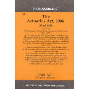 Professional's The Actuaries Act, 2006 Bare Act