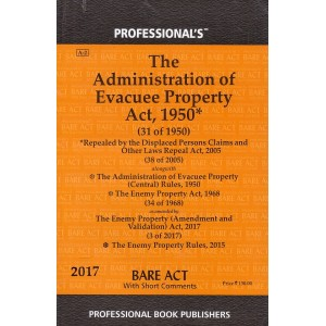 Professional's Bare Act on Administration of Evacuee Property Act 1950