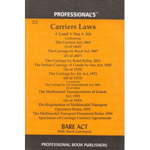 Professional's Carriers Laws (Land, Sea, Air) Bare Act