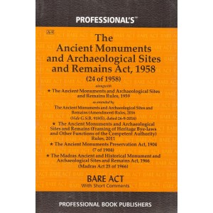Professional's Ancient Monuments and Archaeological Sites and Remains Act, 1958 Bare Act