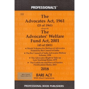 Professional's The Advocates Act, 1961 Bare Act
