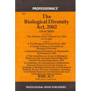 Professional's The Biological Diversity Act, 2002 Bare Act